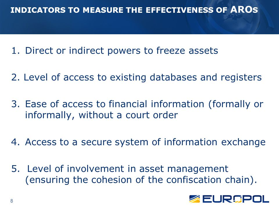 ARO Platform Sub Working Group Data on beneficial ownership of bank accounts and signatories should be included.
