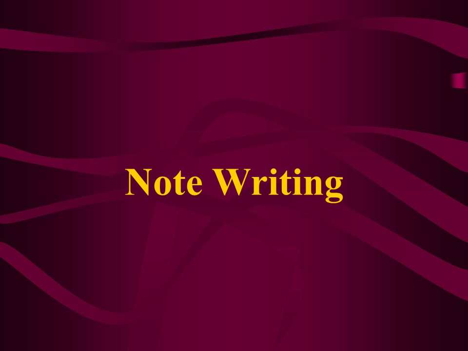 Note Writing