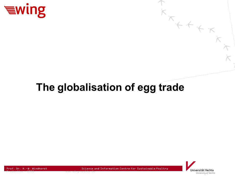 Prof. Dr. H.-W. Windhorst Science and Information Centre for Sustainable Poultry Production – WING www.wing-vechta.de The globalisation of egg trade