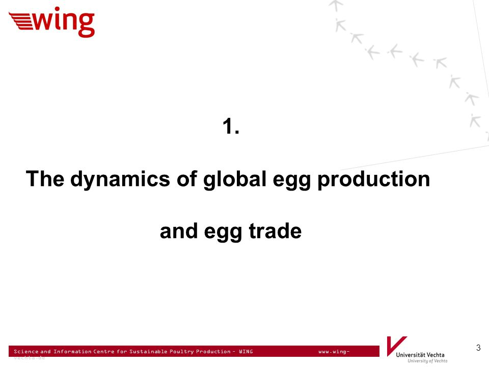 Science and Information Centre for Sustainable Poultry Production – WING www.wing- vechta.de EGG SUPPLY