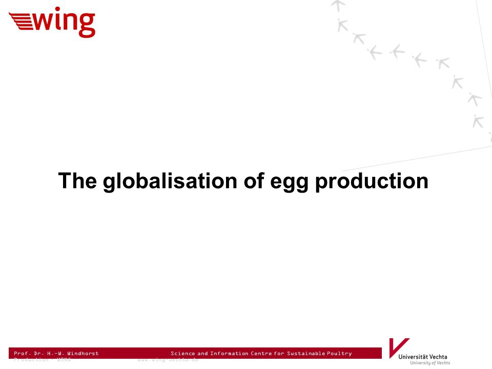 Prof. Dr. H.-W. Windhorst Science and Information Centre for Sustainable Poultry Production – WING www.wing-vechta.de The globalisation of egg product