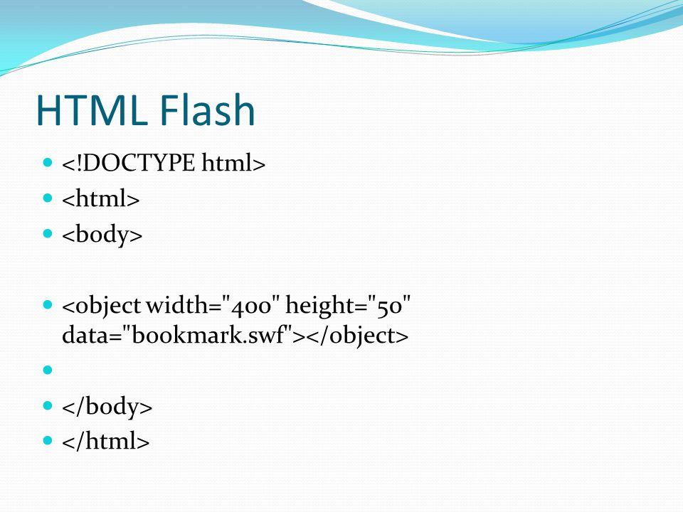 HTML Flash