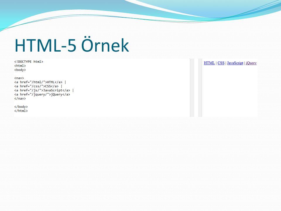 HTML-5 Örnek