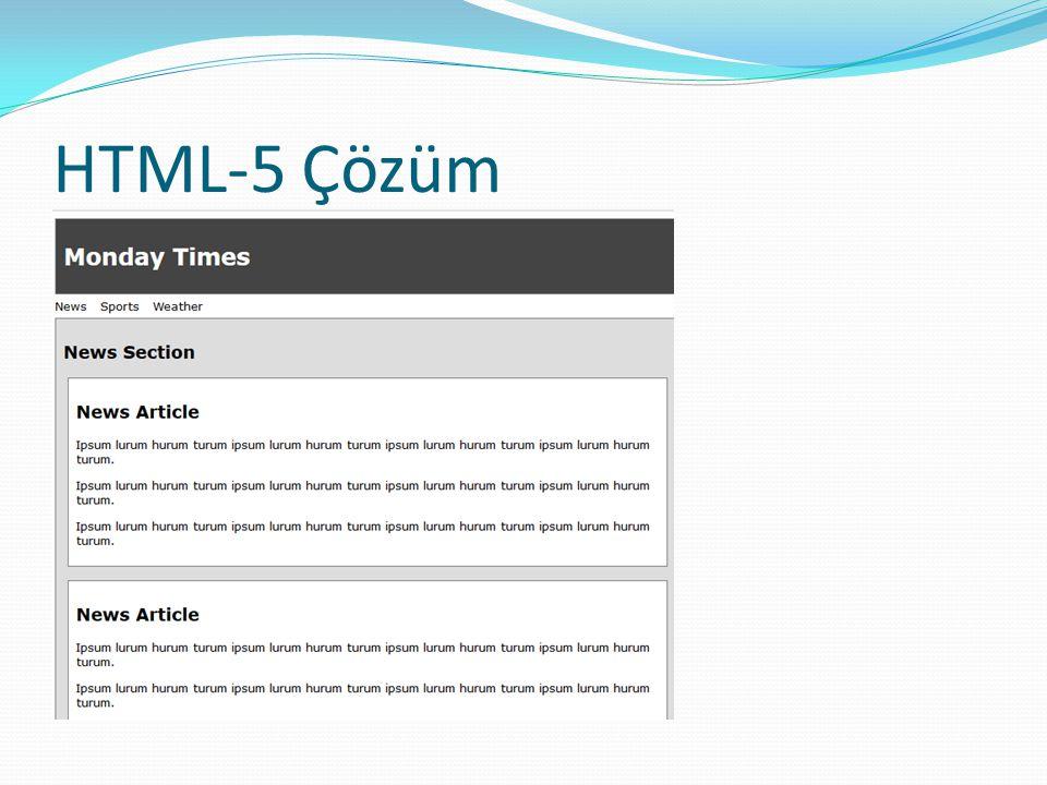 HTML-5 Çözüm