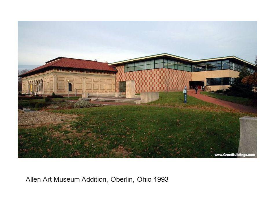 Allen Art Museum Addition, Oberlin, Ohio 1993