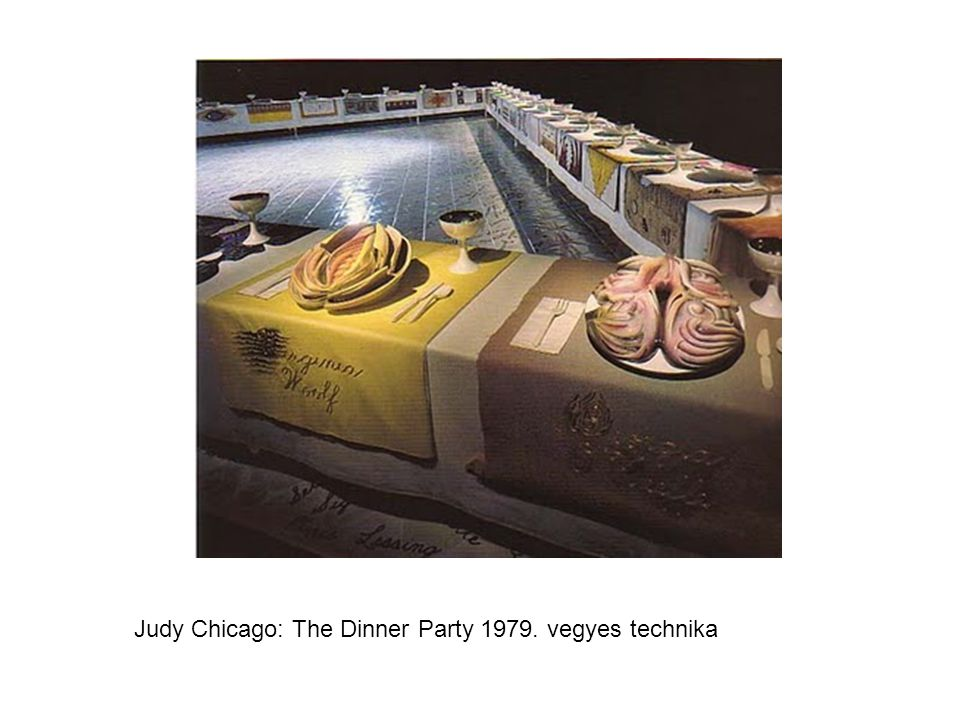 Judy Chicago: The Dinner Party 1979. vegyes technika