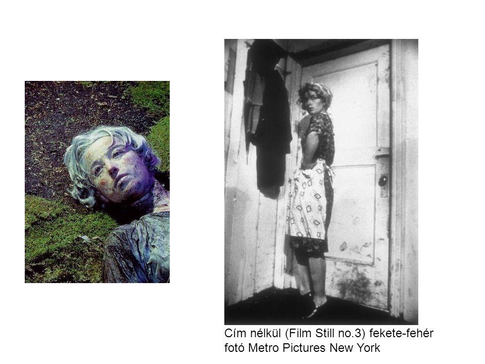 Cím nélkül (Film Still no.3) fekete-fehér fotó Metro Pictures New York
