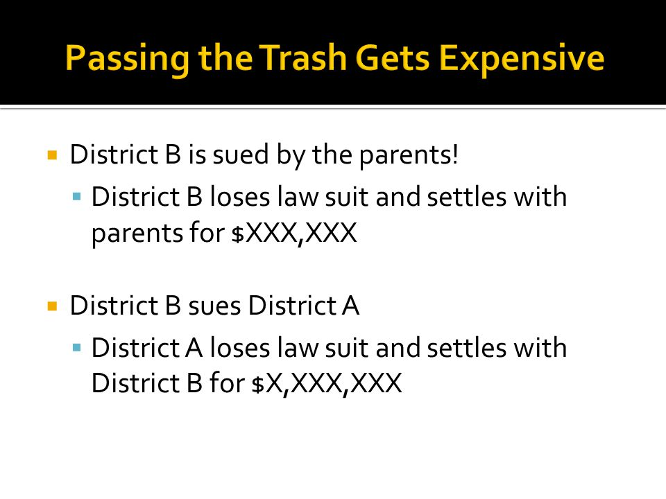 District B is sued by the parents.