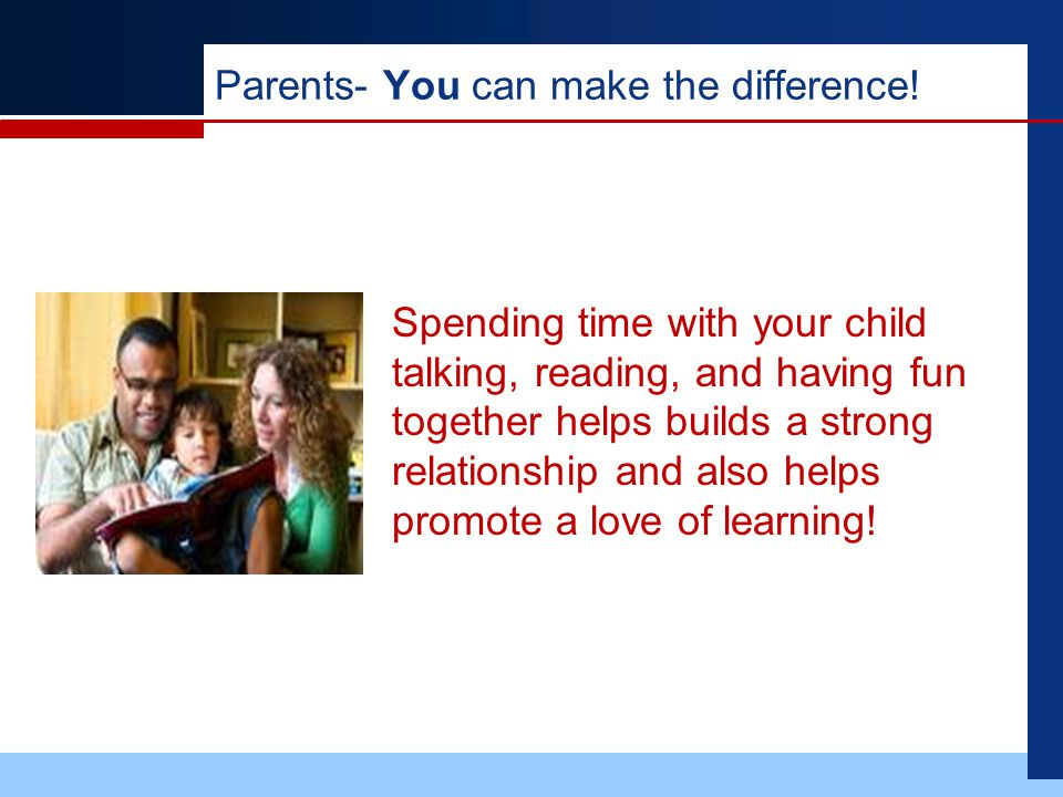 Parents- You can make the difference.
