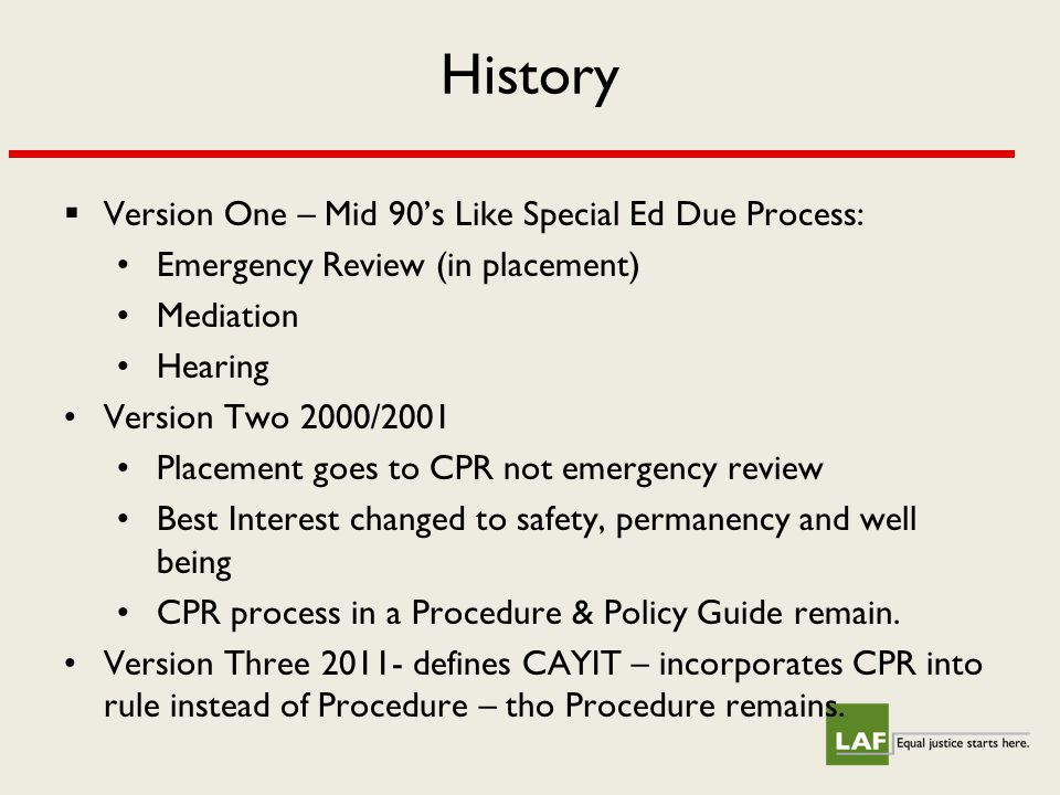 Clinical Placement Review Timing Issues  To request CPR--must phone or fax request for CPR within 3 working days of decision to remove.