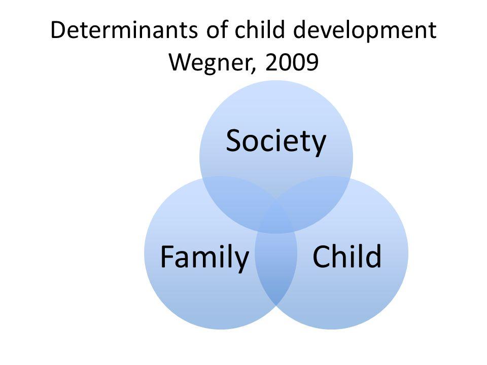 Determinants of child development Wegner, 2009 Society ChildFamily