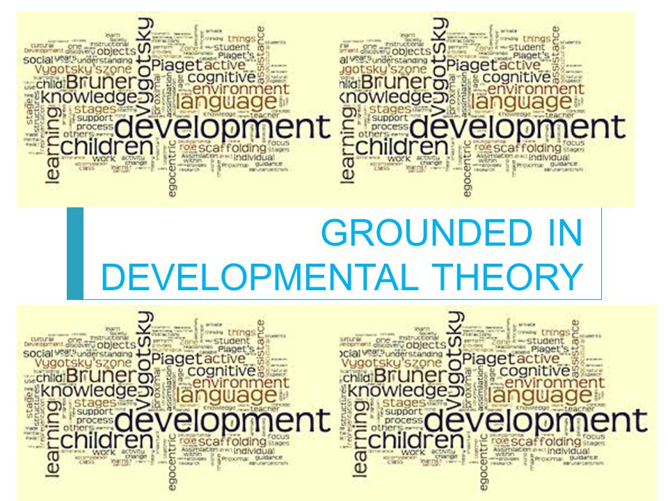 GROUNDED IN DEVELOPMENTAL THEORY