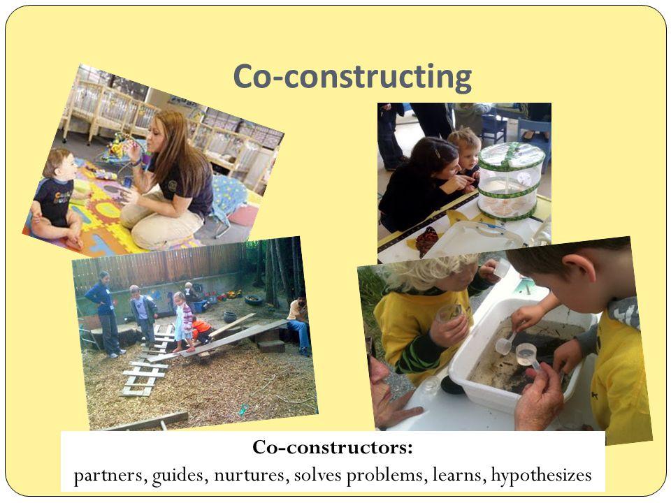 Co-constructing Co-constructors: partners, guides, nurtures, solves problems, learns, hypothesizes