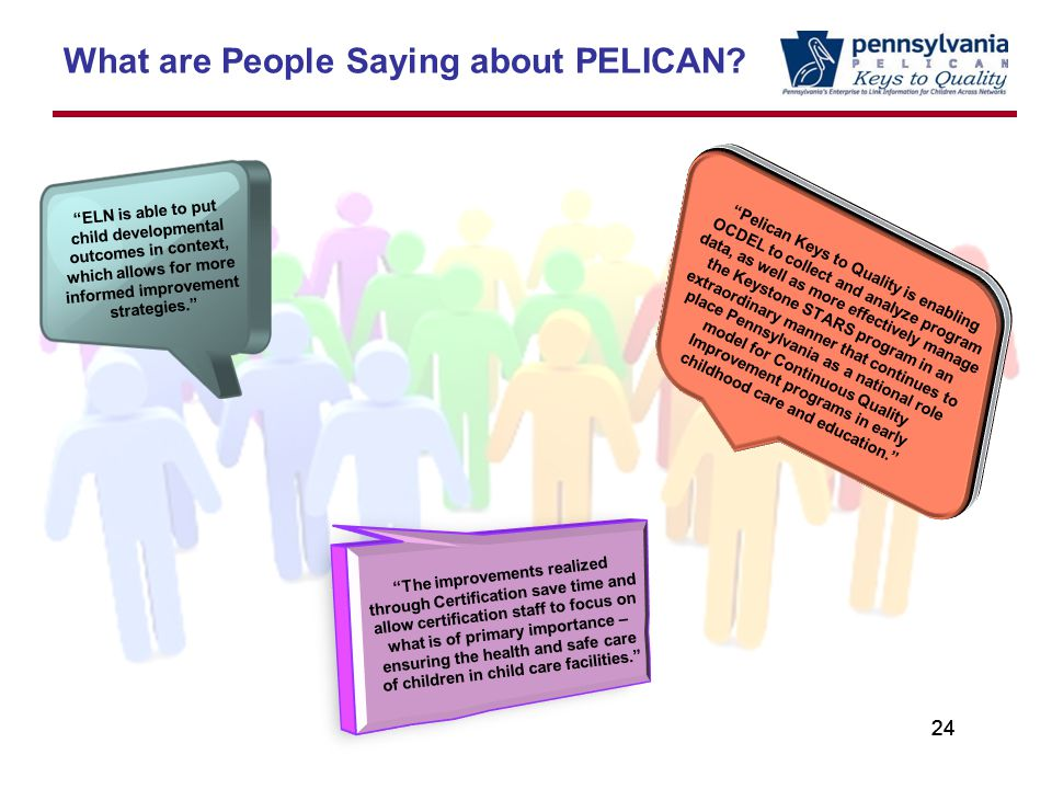 24 What are People Saying about PELICAN.