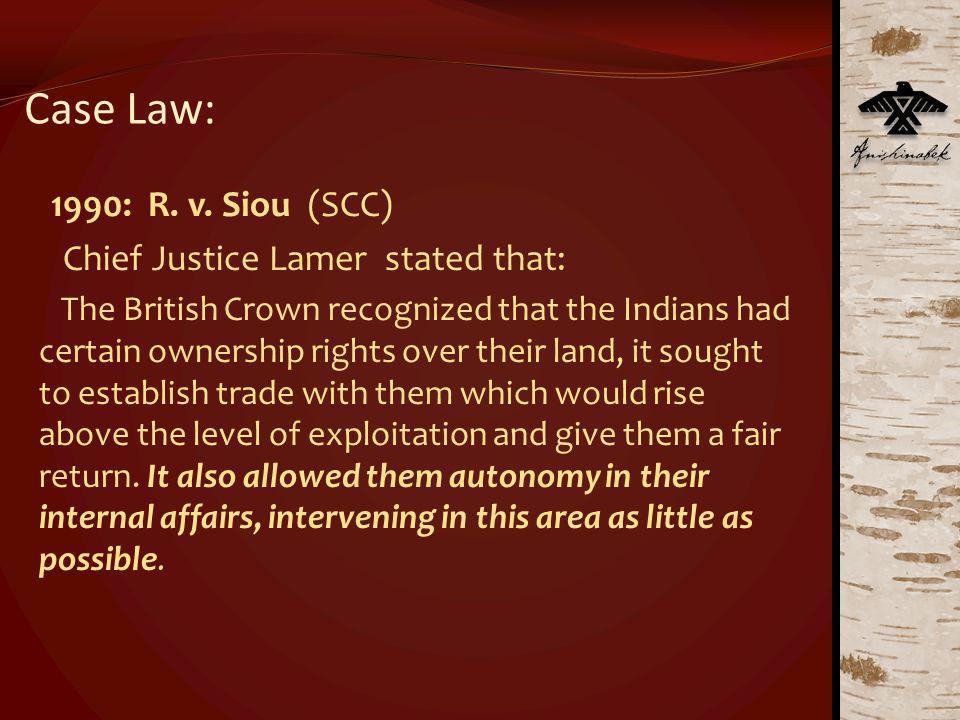Case Law: 1990: R. v.