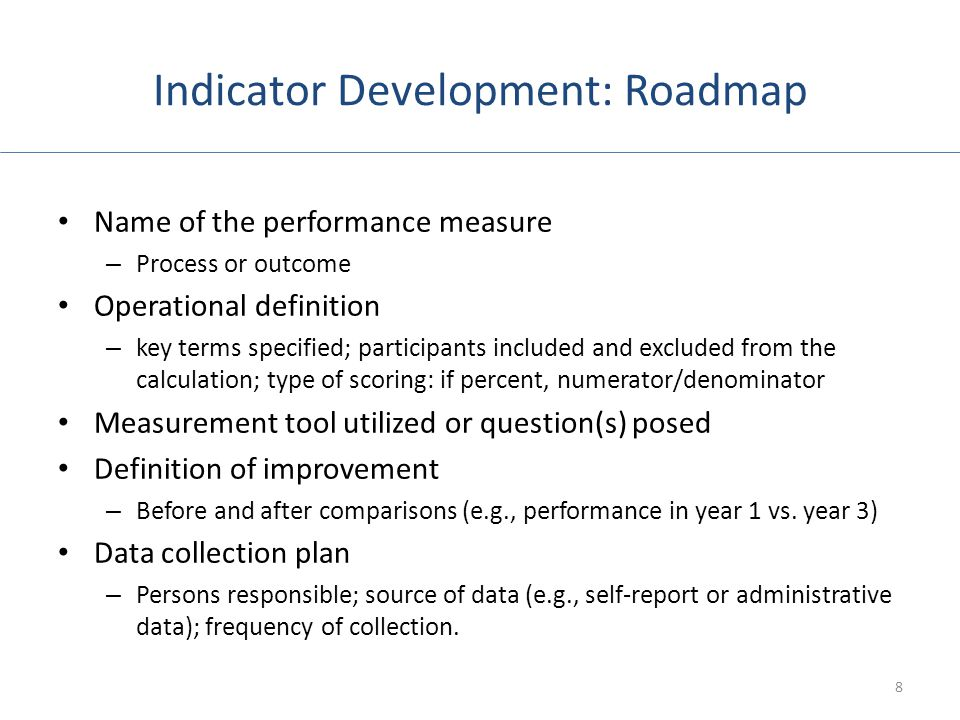 Overview Legislatively Required Measurement System Federal Data Collection Opportunities 9