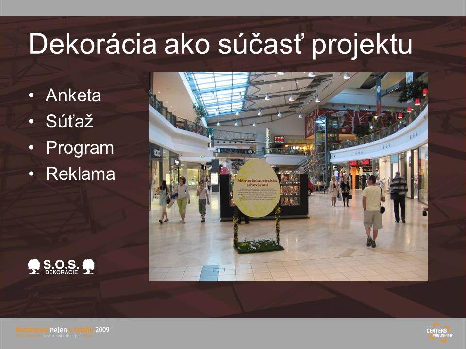 Dekorácia ako súčasť projektu Anketa Súťaž Program Reklama