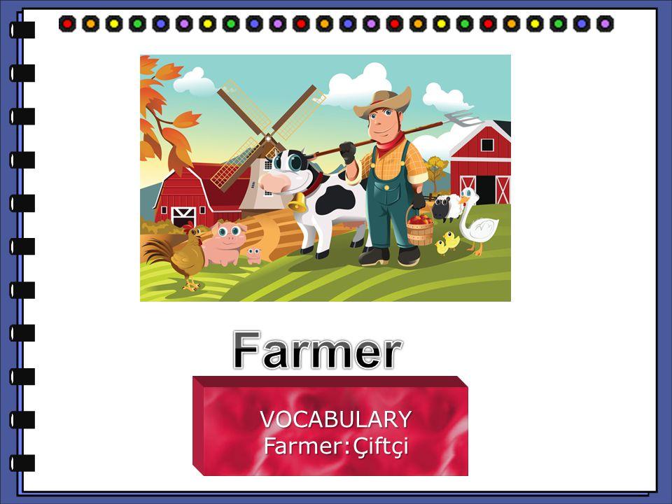 VOCABULARYFarmer:Çiftçi