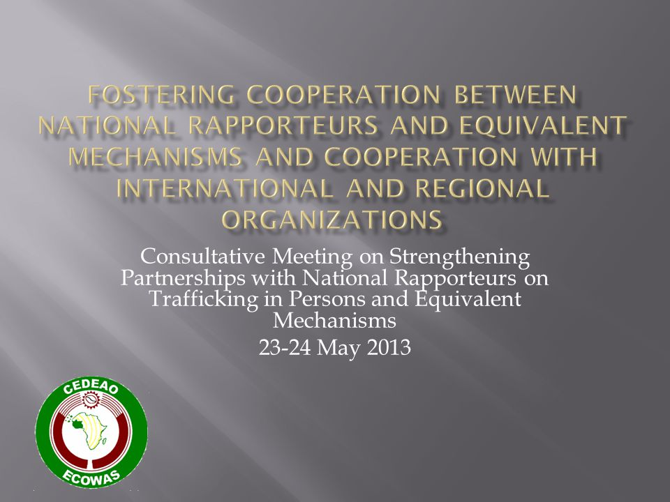 Consultative Meeting on Strengthening Partnerships with National Rapporteurs on Trafficking in Persons and Equivalent Mechanisms 23-24 May 2013