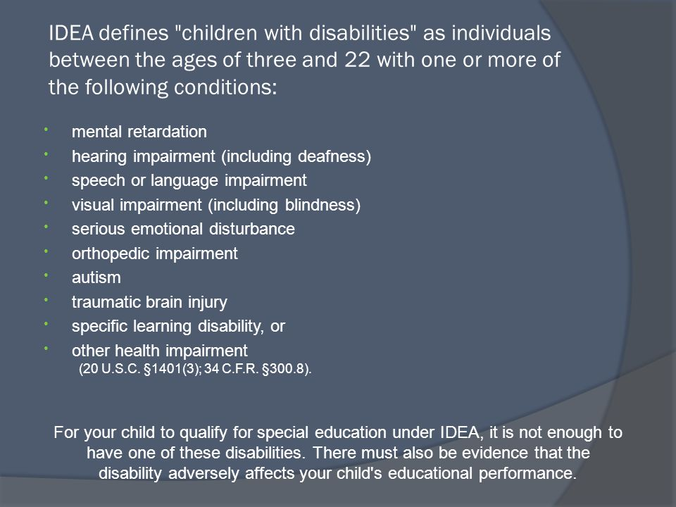 The acronym IEP means … Initial Meeting An initial meeting where the school district determines whether or not your child is eligible for special education.