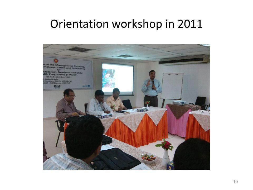 Orientation workshop in 2011 15
