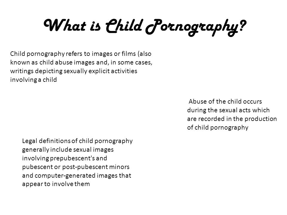 What is Child Pornography.