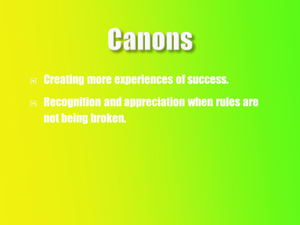  Creating more experiences of success.