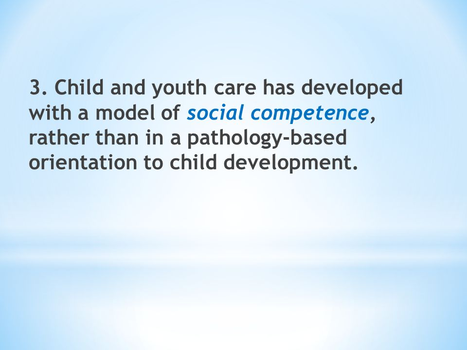 Four essential elements to creating a children's best interests system * An education and career ladder (lattice) system for child and youth care workers with a child's best interests-focussed curriculum; * Agency-based organizational development processes based on developmental and therapeutic principles in the best interests of children and youth; * A system-level framework and way of operating in the best interests of children and youth.