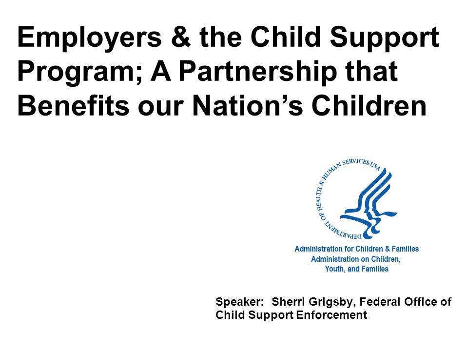 Why is the child support program important.