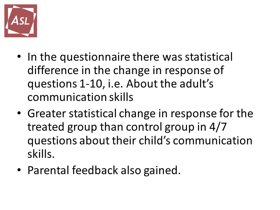 In the questionnaire there was statistical difference in the change in response of questions 1-10, i.e.