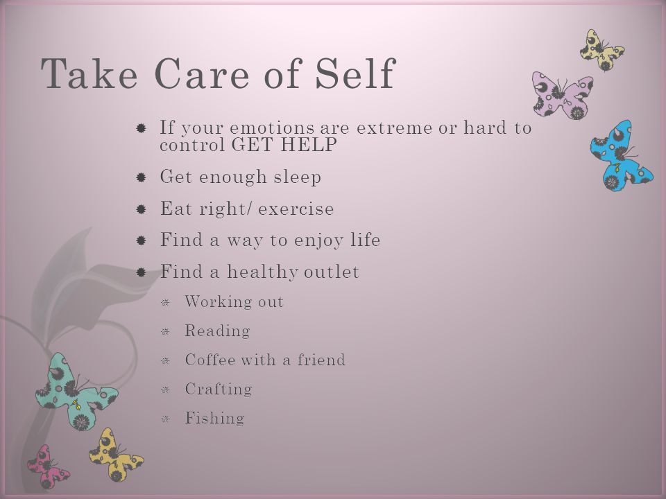 Take Care of Self
