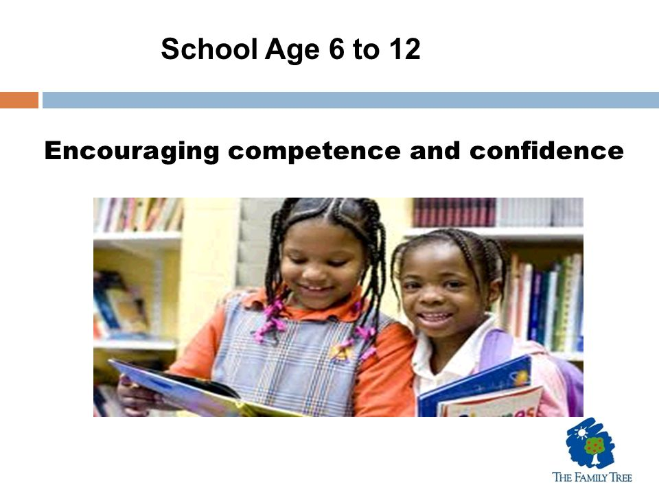 Encouraging competence and confidence School Age 6 to 12