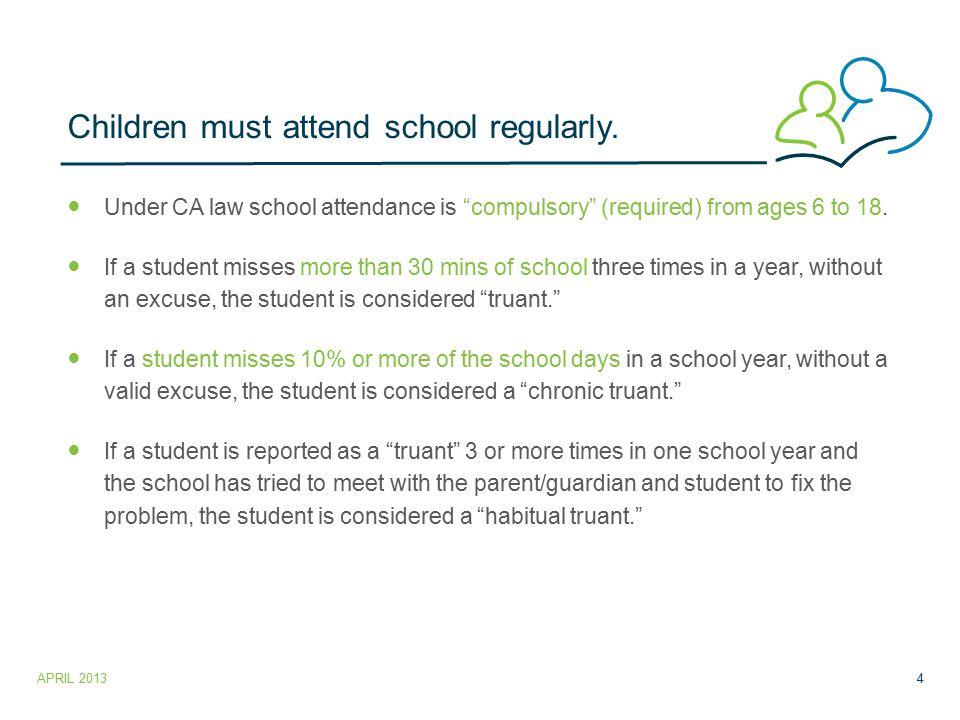 Children must attend school regularly.