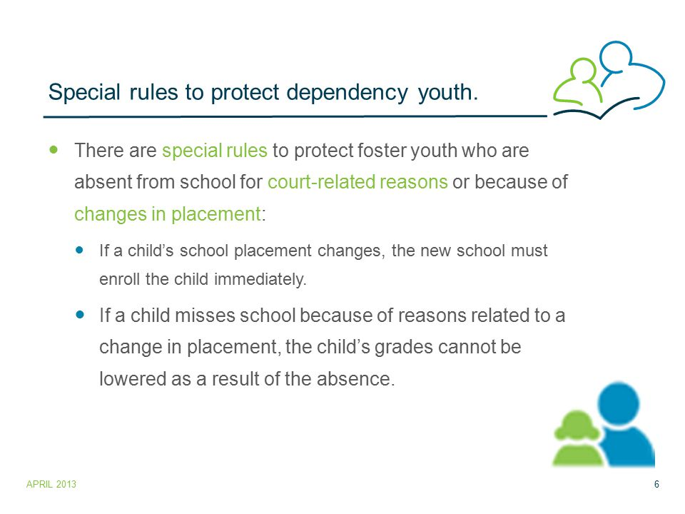 Special rules to protect dependency youth.