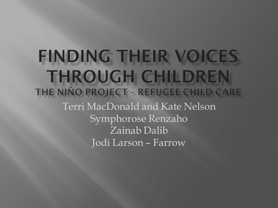 Terri MacDonald and Kate Nelson Symphorose Renzaho Zainab Dalib Jodi Larson – Farrow