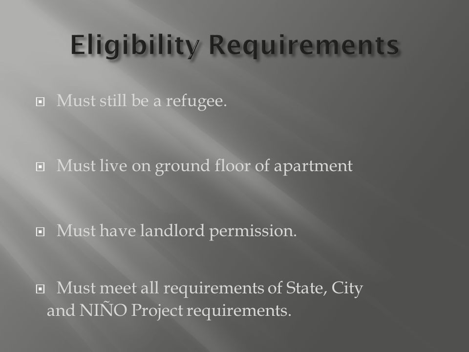  Providers must have signed landlord approval  Must meet all Child Care licensing requirements  Must have current CPR and First Aid certificates  Participate in 10 hours business startup class  Participate in 4 hours child related classes  Commit to 14 hours of training a year  Meet all ICCP requirements