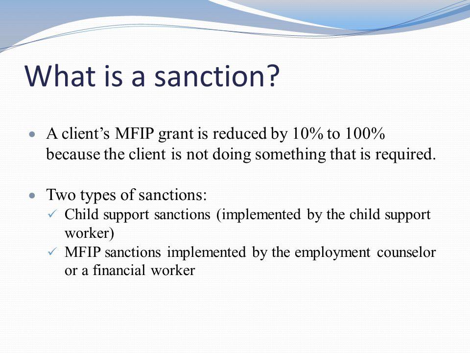 Sanction Reductions  First sanction: 10% reduction.