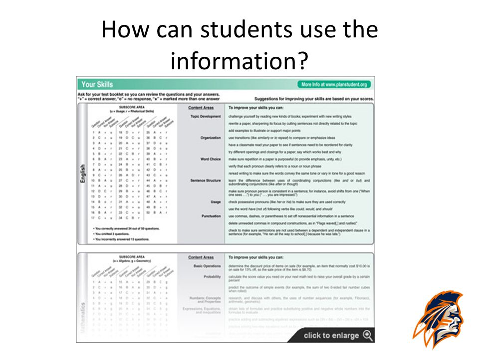 How can students use the information