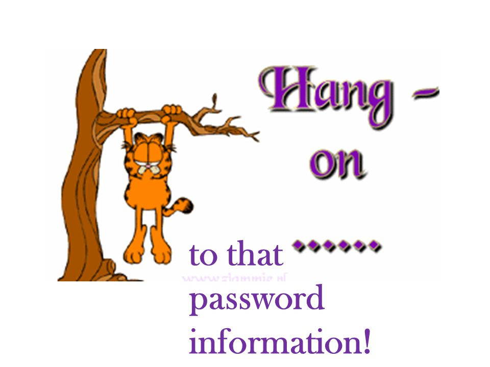 to that password information!