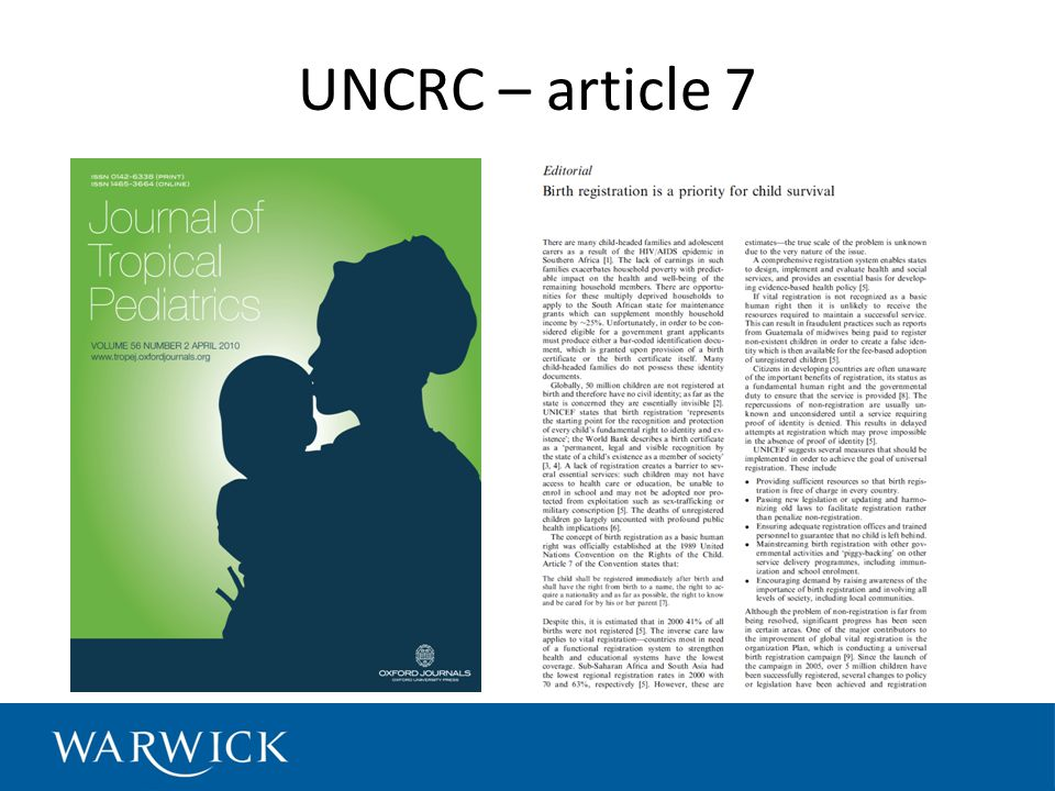 UNCRC – article 7