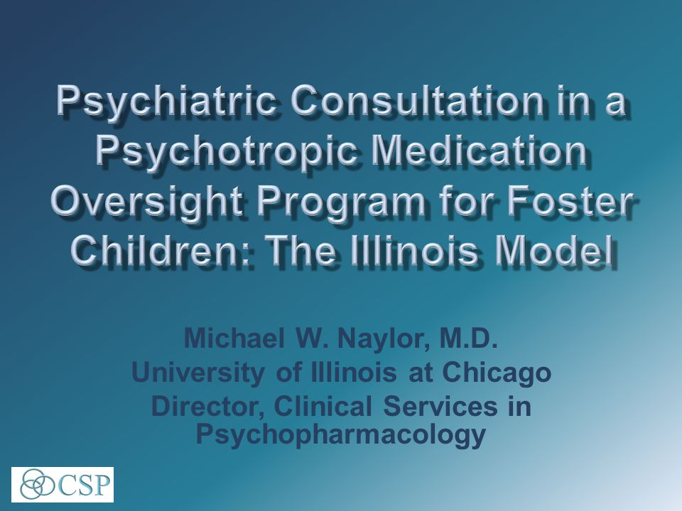 Consultation –monitoring/QI medication utilization patterns –rate of copharmacy with two or more antipsychotics –rate of polypharmacy by age group timeliness of consent process compliance with Rule 325