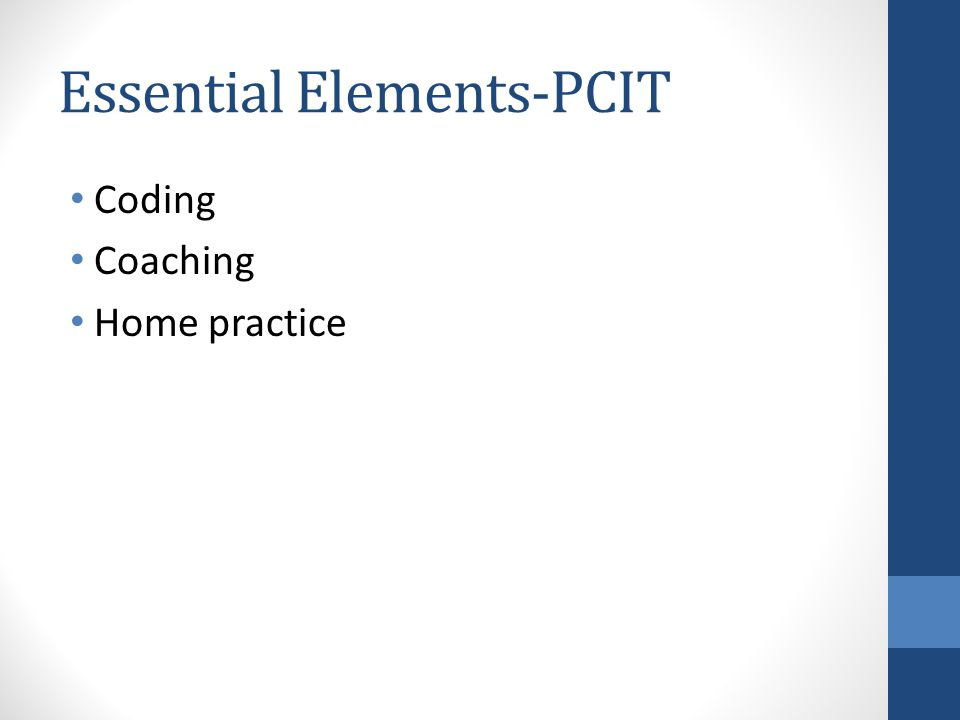 Essential Elements-PCIT Coding Coaching Home practice