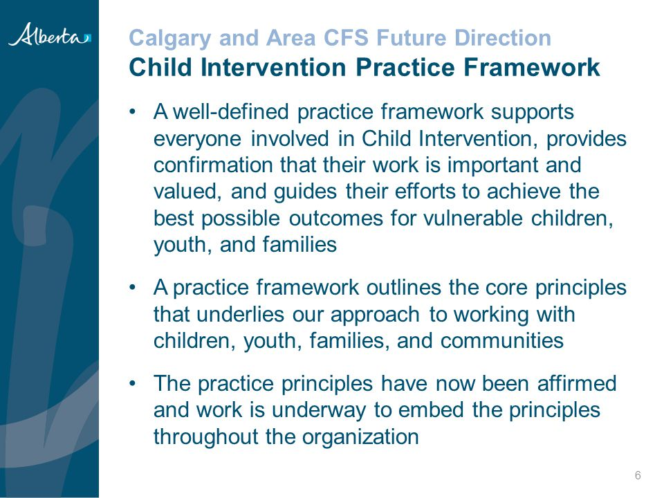 Improving Child Intervention Practice Outcome-Based Service Delivery (OBSD) Next Steps  OBSD will continue to be implemented in Region 3.