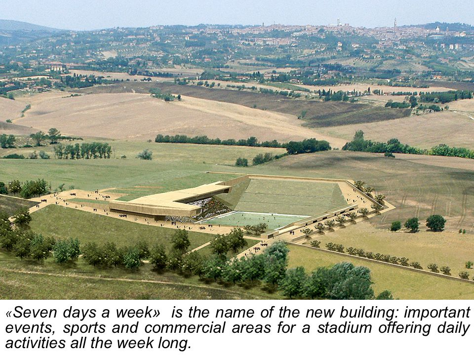 « Seven days a week» is the name of the new building: important events, sports and commercial areas for a stadium offering daily activities all the we