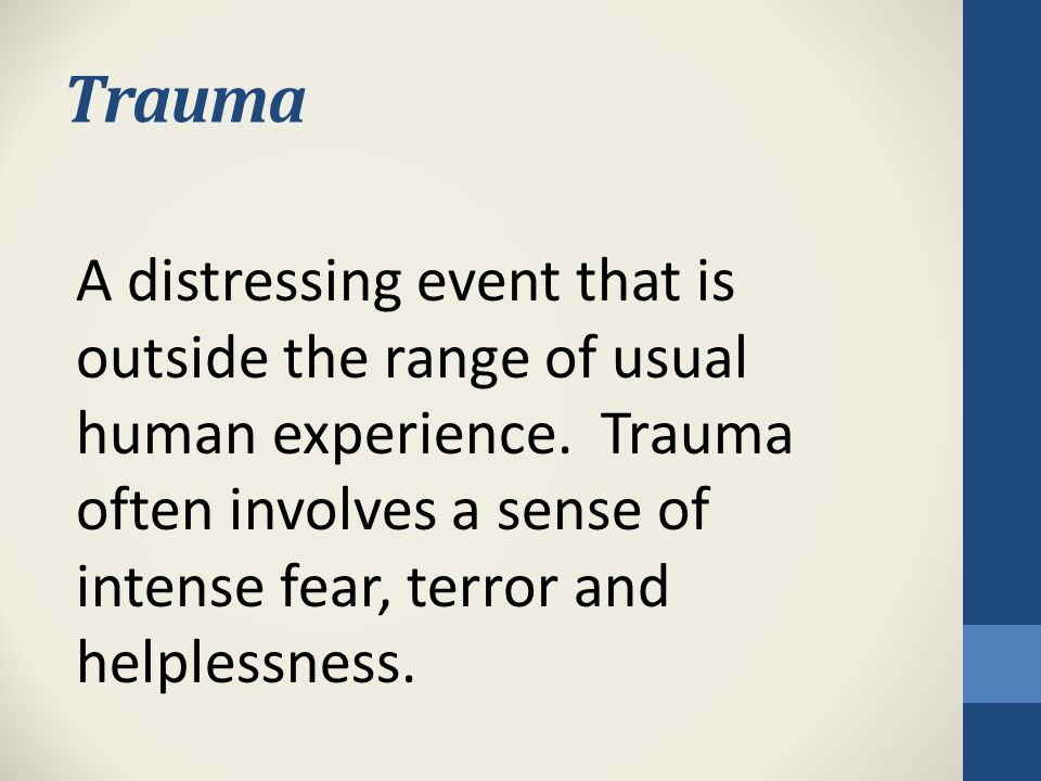 Secondary Trauma can occur following the exposure to a single traumatic event.