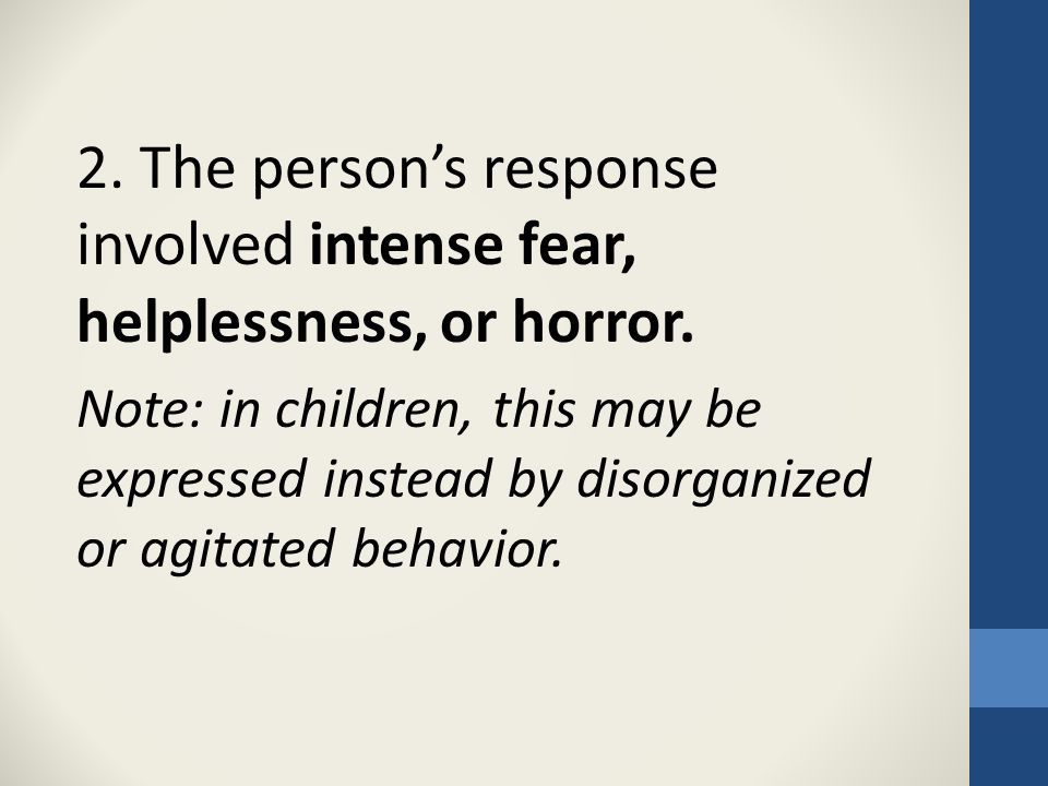 Questions Posed: Are child welfare workers experiencing secondary traumatic stress? If so, why?
