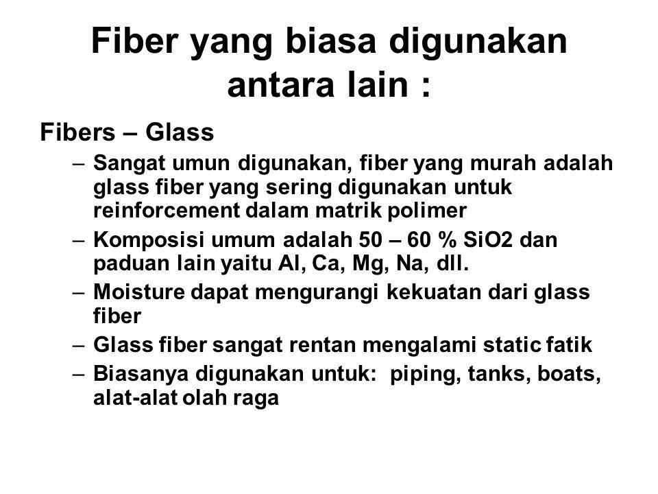 a. Short(discontinuous) fiber reinforced composites AlignedRandom b. Continuous fiber (long fiber) reinforced composites