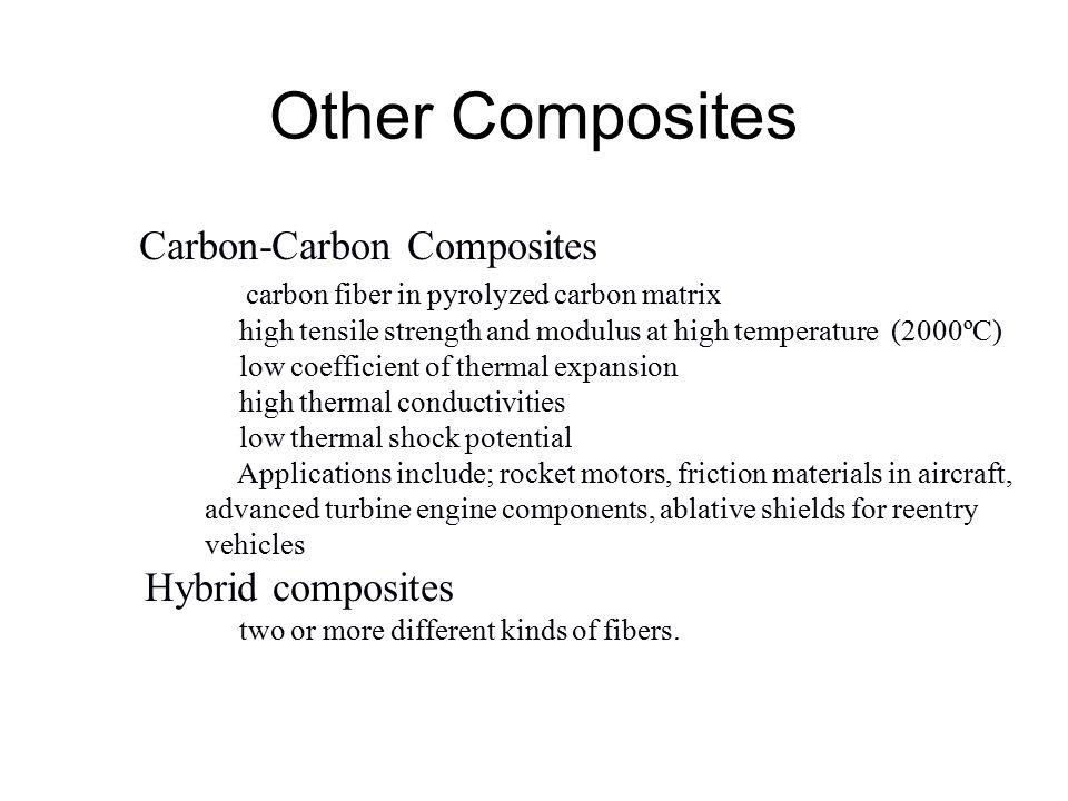 Metal Ceramic-Matrix Composites Metal-Matrix Composites Ceramic-Matrix Composites Employed to increase the fracture toughness of the ceramic Example: