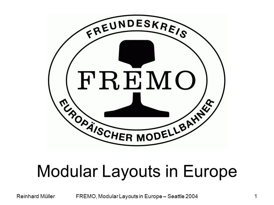 Reinhard MüllerFREMO, Modular Layouts in Europe – Seattle 20041 Modular Layouts in Europe