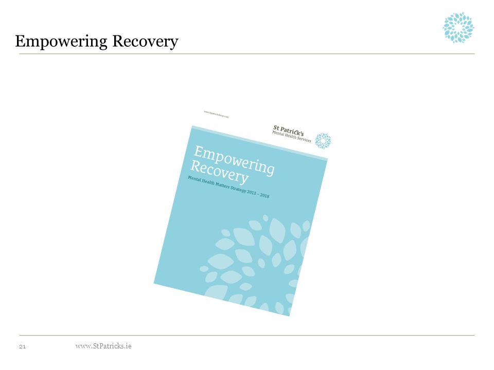 www.StPatricks.ie Empowering Recovery 21